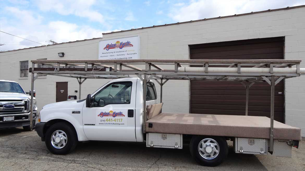 Awnings from our factory to your home